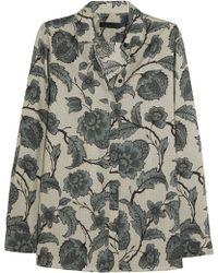 Burberry Prorsum - Printed Cotton And Silk-Blend Shirt - Lyst