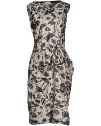 Lanvin Knee-Length Dress gray - Lyst