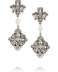 Tom Binns Certain Ratio Rhodium-plated Swarovski Crystal Earrings - Lyst