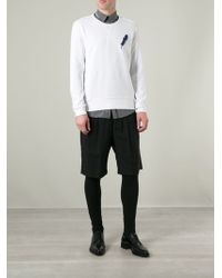 Alexander McQueen White Feather Sweatshirt - Lyst