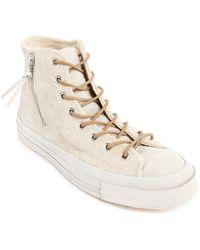 Converse 70S Chuck Qs Ecru Suede Pack Sneakers beige - Lyst