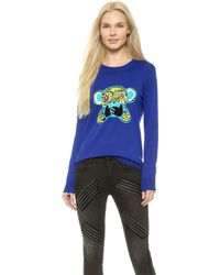 Markus Lupfer Speak No Evil Sequin Natalie Sweatshirt - Congo Blue - Lyst