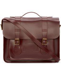 Dr. Martens - Red Leather Large Messenger Satchel - Lyst