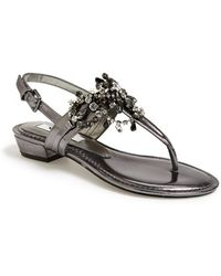 Nina 'Karma' Crystal Embellished Slingback Sandal - Lyst