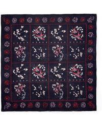 Alexander McQueen Swallow Grid Print Silk Chiffon Scarf - Lyst