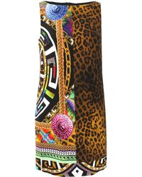 Versace Multi Print Shift Dress - Lyst