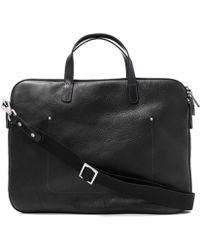 Ally Capellino - Black Dominic Folio Leather Bag - Lyst