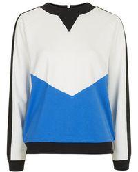 Topshop Sporty Colour-Block Sweat By Unique blue - Lyst