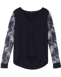 Tibi Chantilly Lace Sleeve Top - Lyst