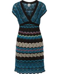 M Missoni Crochet Knit Mini Dress - Lyst