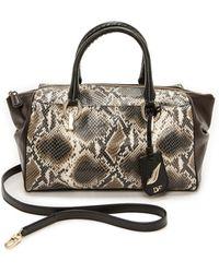 Diane Von Furstenberg Python Print Small Duffel Bag  Mahogany Multi - Lyst