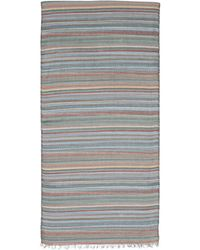 Paul Smith Horizontal Stripe Silk Scarf - Lyst