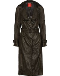Vivienne Westwood Red Label Metallic Open-Knit Trench Coat - Lyst