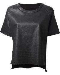 Mm6 By Maison Martin Margiela Faux Leather Top - Lyst