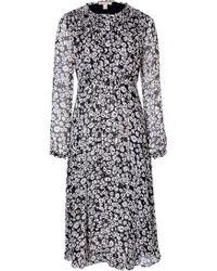 Burberry Brit Silk Dress - Lyst