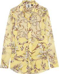 Topshop Unique - Printed Silk-Georgette Shirt - Lyst