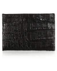Santiago Gonzalez Crocodile Card Case black - Lyst