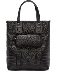 Neil Barrett Black Leather Quilted Prism Tote - Lyst