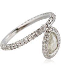 Nina Runsdorf - Diamond Flip Ring - Lyst