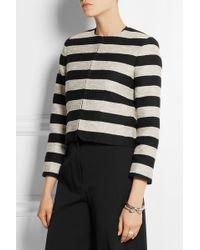 Alice + Olivia Kidman Striped Cotton-blend Jacket - Lyst