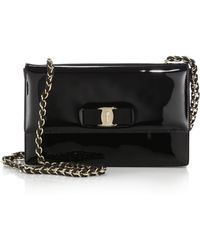 Ferragamo Ginny Medium Patent Leather Crossbody Bag - Lyst