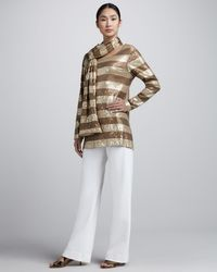 Eileen Fisher Gold Sequined Tunic - Lyst