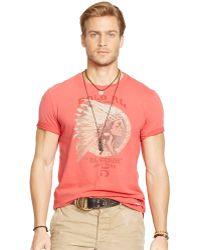 Polo Ralph Lauren Headdress Graphic T-Shirt - Lyst