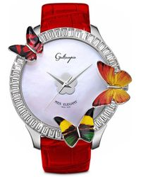 Galtiscopio - 'mes Elegant' Butterfly Crystal Watch - Lyst