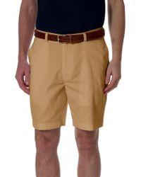 Brooks Brothers Plain-Front Advantage Shorts yellow - Lyst