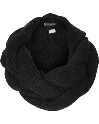 Topshop Black Plaited Snood - Lyst