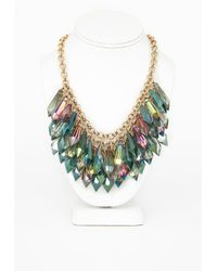 Missguided Perspex Drop Statement Necklace Multi - Lyst