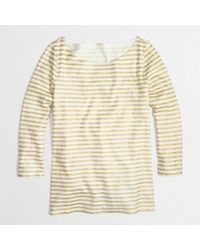 J.Crew Factory Boatneck Top in Metallic Stripe - Lyst