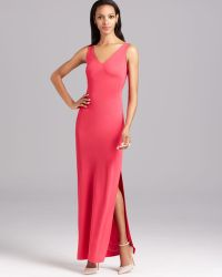 Nicole Miller Gown Sleeveless Double V Neck - Lyst