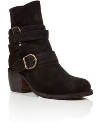 Fiorentini + Baker Suede Buckled Strap Ankle Boots - Lyst