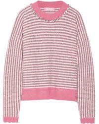 Ryan Lo Crystal-embellished Wool-blend Sweater - Lyst
