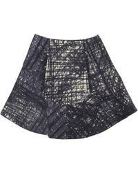 Carven Flannel Print Skirt blue - Lyst