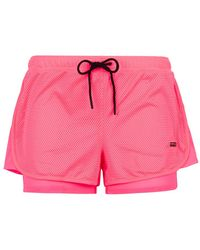 Juicy Couture Ball Mesh Shorts pink - Lyst