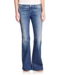 7 for all mankind Short Inseam A-pocket Flared Jeans in Blue | Lyst