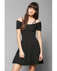 Sparkle & Fade - Strappy Shoulder Skater Dress - Lyst