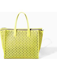 Zara Perforated Shopper Bag - Lyst