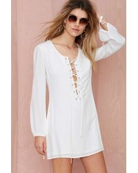 Nasty Gal After Party Vintage Tie The Knot Dress - Lyst