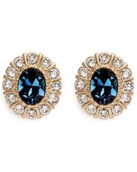 Givenchy | Swarovski Crystal Pavé Magnetic Earrings | Lyst