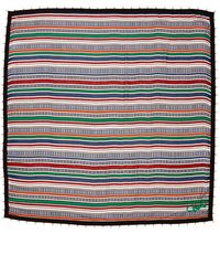 Diane Von Furstenberg New Busby Scarf - Stripped Bands Square Multi - Lyst