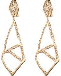 Alexis Bittar Crystal Mosaic Clip Earring - Lyst