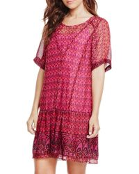 Two By Vince Camuto - Print Drop Waist Dress - Lyst