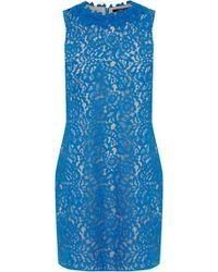 Oasis Lace Trimmed Oriental Shift Dress - Lyst
