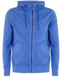 BOSS Orange - Ztylo Blue Hooded Sweatshirt - Lyst