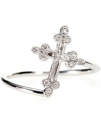Stone - Devotion 18kt White Gold Ring With White Diamonds - Lyst