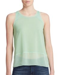 French Connection Sheer Detail Tank Top - Lyst