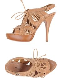 Alaïa Brown Sandals - Lyst
